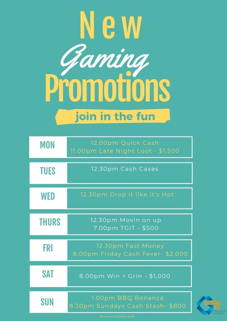 Gaming Promotions June 2018 Poster