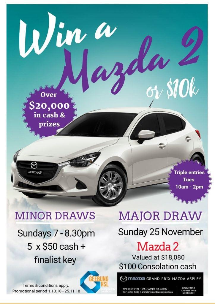 October Mazda 2 Poster