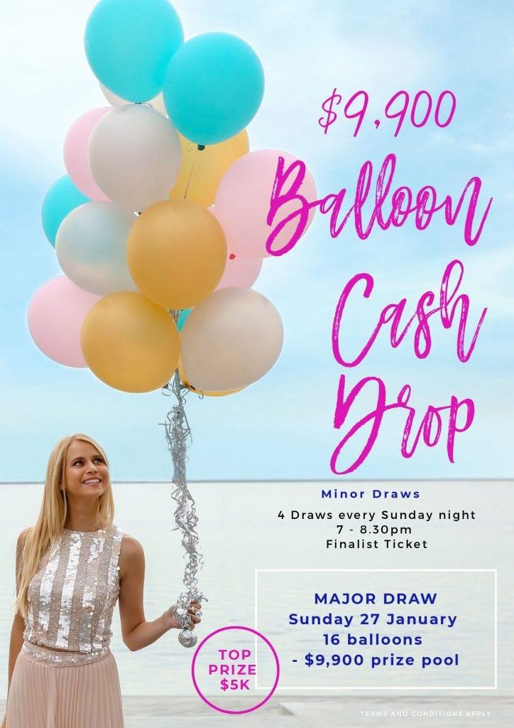 Balloon Cash Drop Poster