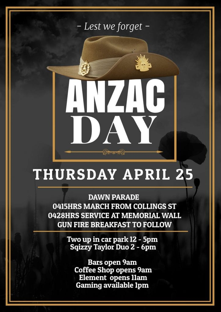 2019 Anzac Day Poster
