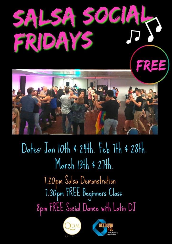 Salsa Social Fridays Poster