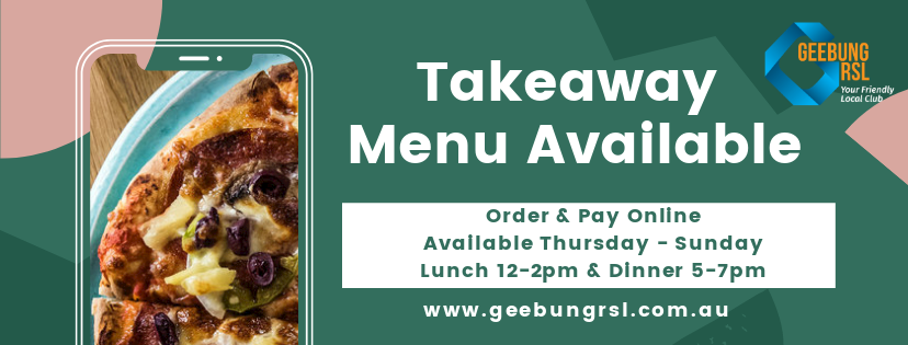 Takeaway Menu Available Green & Pink Template Facebook Cover 2