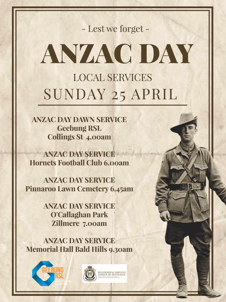 Anzac Day Services Poster457610
