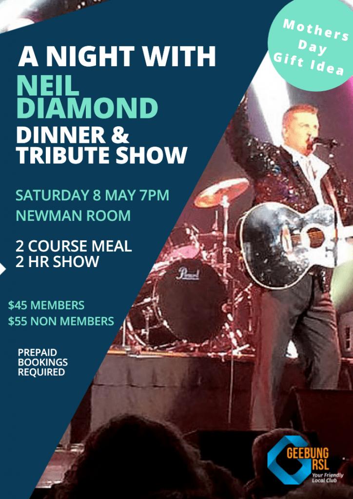 Neil Diamond Tribute A4 Portrait